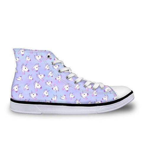 Purple Unicorn High Top