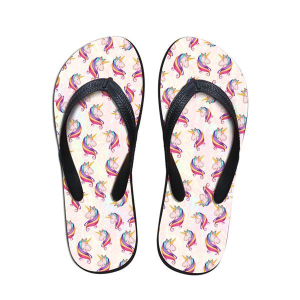 White Unicorn Flip-Flops