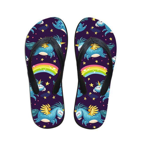 Rainbow Unicorn Flip-Flops