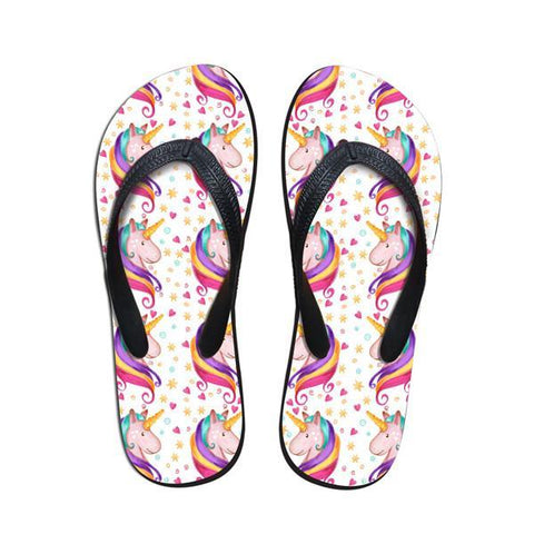 Women's Unicorn Flip-Flop Thong Sandals