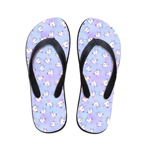 Purple Unicorn Sandals