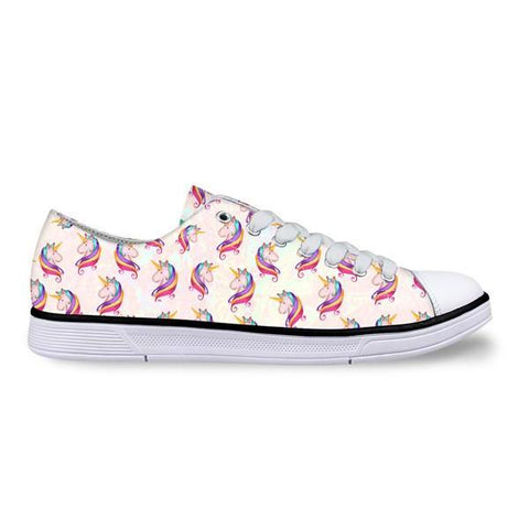 White Unicorn Low Top Shoes