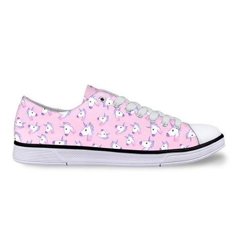 Womens Classic Low Top Canvas Unicorn Shoes