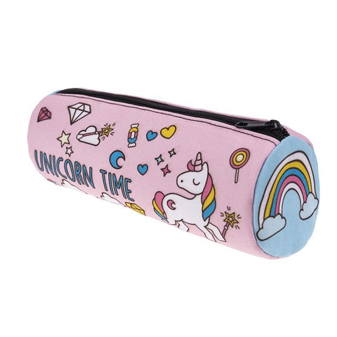 Tube-Shaped Unicorn Time Cosmetic Bag / Pencil Case