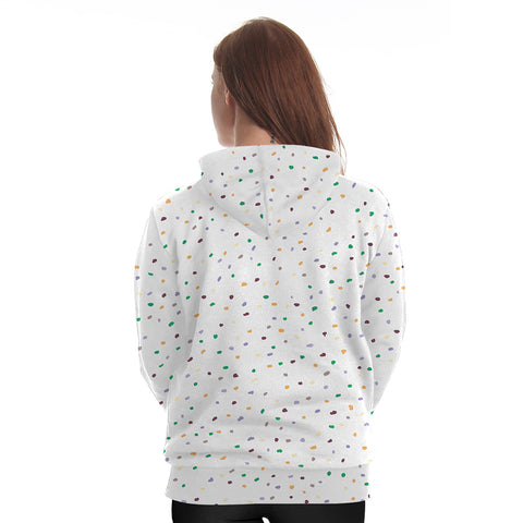 Rainbow Splatter Unicorn Hoodie Back