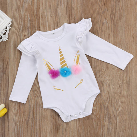 Long Sleeve Unicorn Onesie Bodysuit
