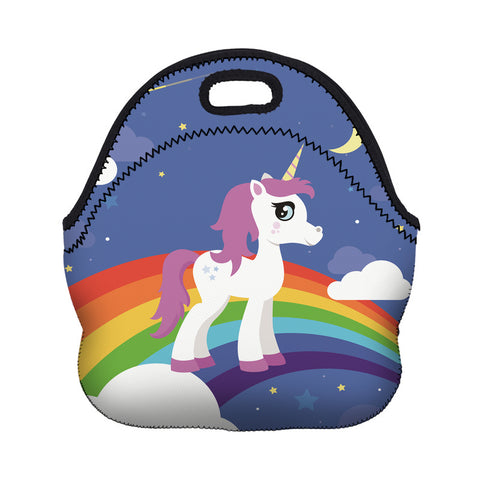 Blue Rainbow Unicorn Cooler Lunch Bag