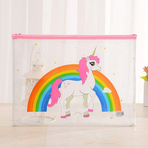 Unicorn Rainbow Transparent Pencil Case