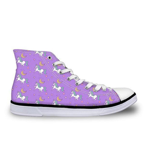 Purple Canvas High Top