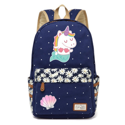 Navy Mermicorn Backpack