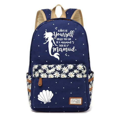 Navy Mermaid Backpack Style 3
