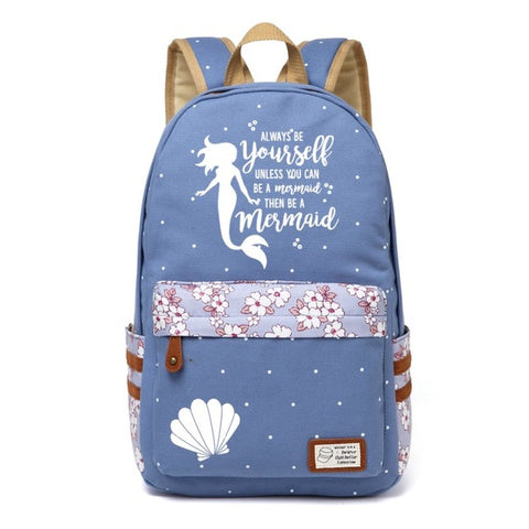 Blue Mermaid Backpack Style 3