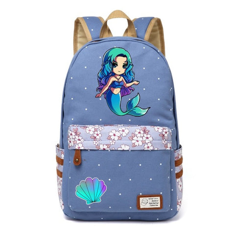 Blue Mermaid Backpack Style 1
