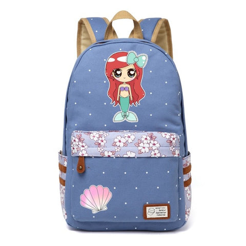Blue Mermaid Backpack Style 2