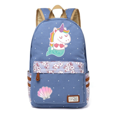 Blue Mermicorn Backpack