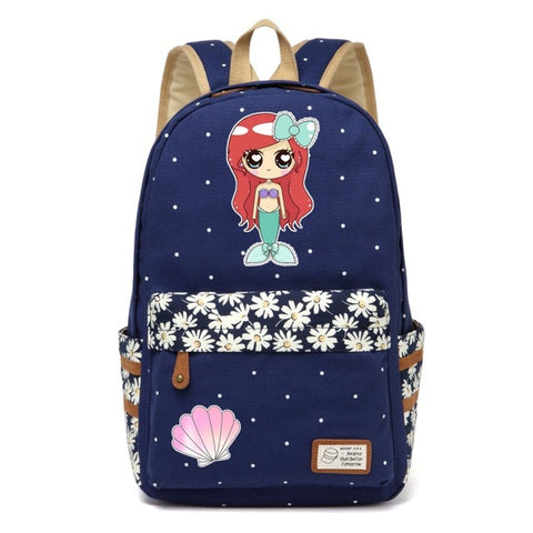 Navy Mermaid Backpack Style 2