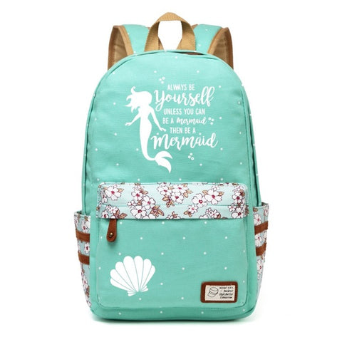 Teal Mermaid Backpack Style 3