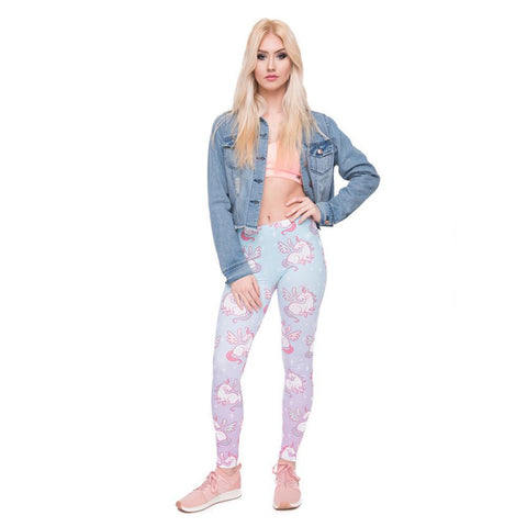 Blue Winged Unicorn Leggings