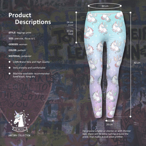 Women's Unicorn Tights Details