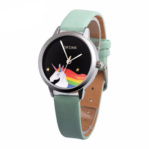 Women's Rainbow Unicorn Casual Wear Watch