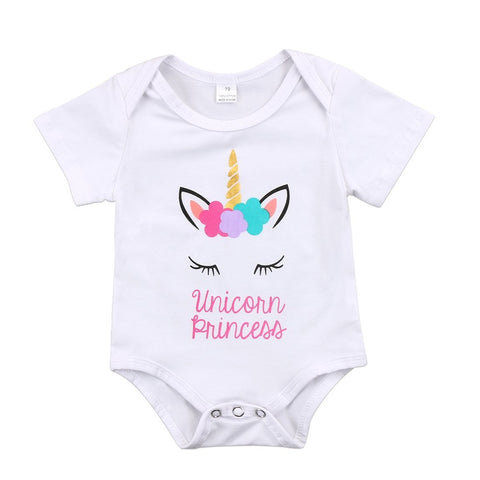 Baby Girls Unicorn Princess Onesie Bodysuit