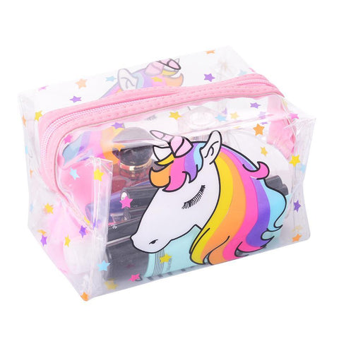 Top of Transparent Unicorn Travel Bag