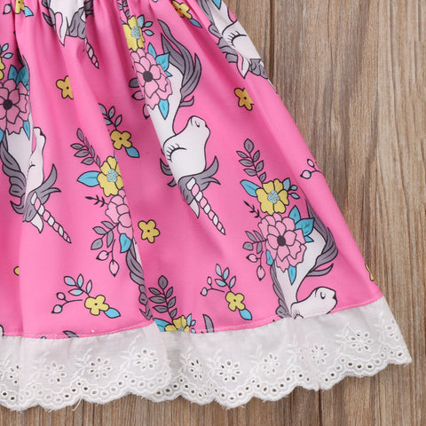 Baby Unicorn Dress Lace Skirt