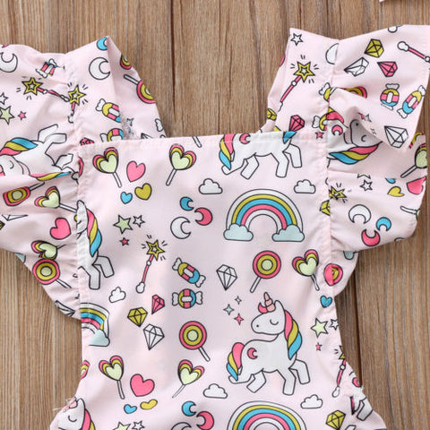Unicorn Baby Romper Top
