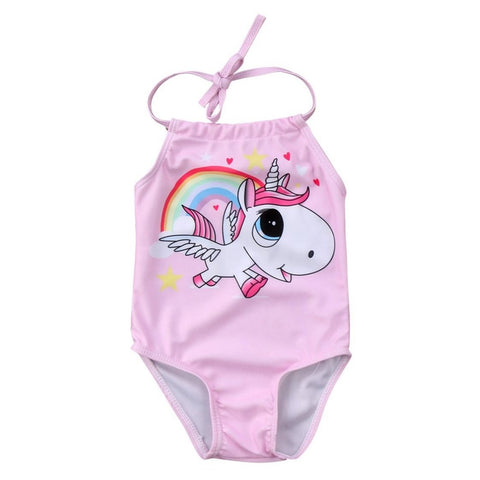 Baby Girls Cute Rainbow Unicorn Swimsuit