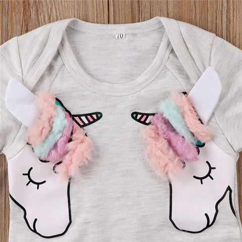 Double Unicorn Baby Onesie Design