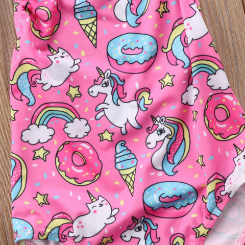 Girls Unicorn Swimsuit Print