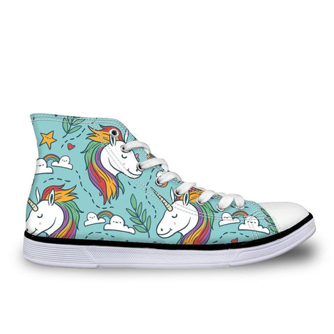 Rainbow Unicorn High Top