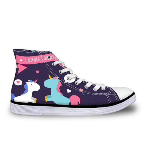 Cute Unicorn Canvas Shoe