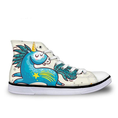 Unicorn Canvas Grapic Shoe