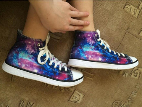 Womens Canvas Graphic Shoes