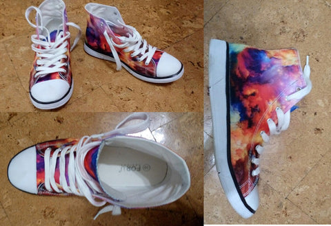 Womens Canvas High Top Shoes