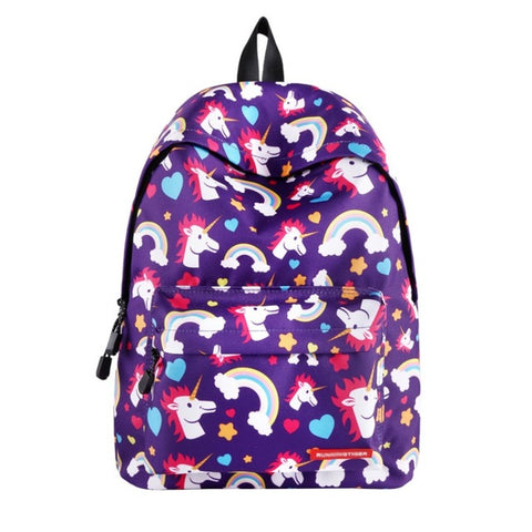 Purple Rainbow Unicorn Backpack