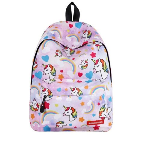White Rainbow Unicorn Backpack
