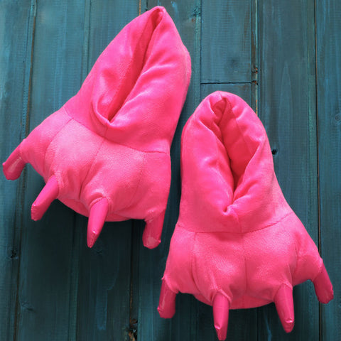 Hot Pink Animal Costume Slippers