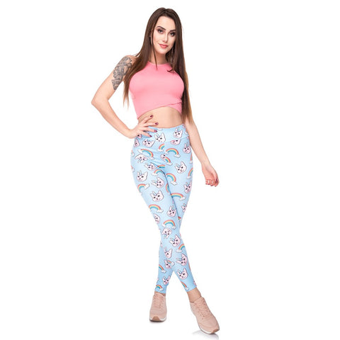 Cat Unicorn Leggings Model