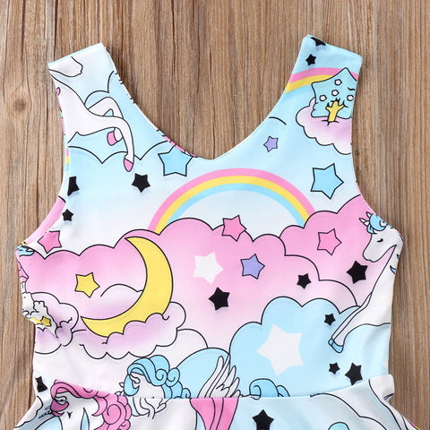 Cartoon Unicorn Party Dress Top