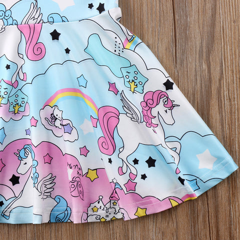 Cartoon Unicorn Skirt