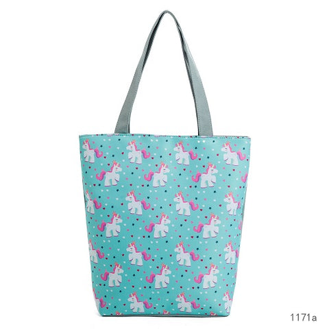 Blue Unicorn Baby Tote Bag