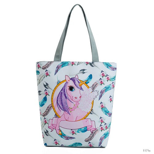 Canvas Unicorn Baby Diaper Tote Bag
