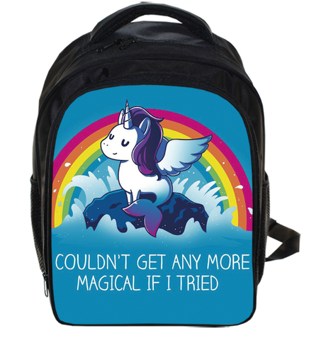 Blue Kids Unicorn Backpack