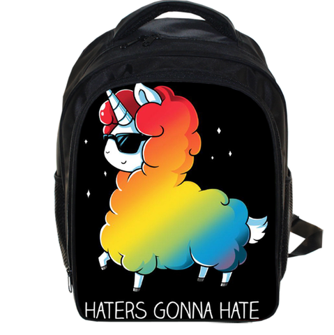 Haters Gonna Hate Unicorn Backpack