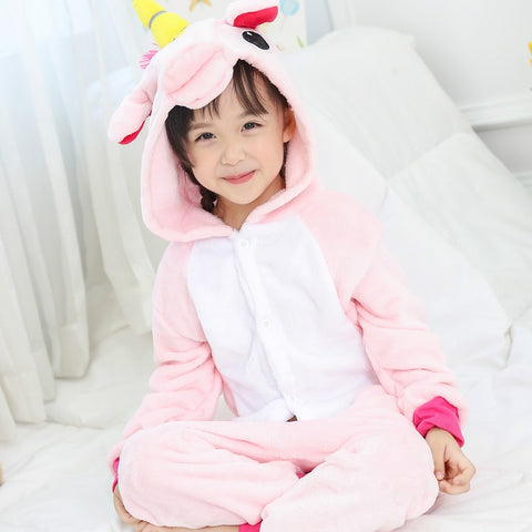 Colored Kids Unicorn Costume