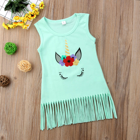 Girls Unicorn Sun Dress