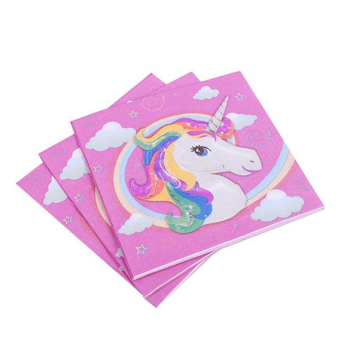 87-Piece Pink Unicorn Party / Birthday Tableware Set