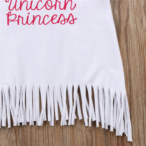 White Unicorn Sun Dress Tassels